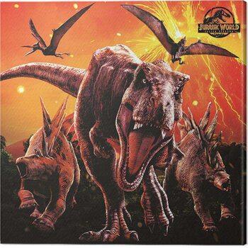 Tableau sur Toile Jurassic World: Fallen Kingdom - Eruption