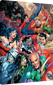Tableau sur Toile Justice League - Selfie
