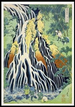 Tableau sur Toile Kirifura Fall in Kurokawa Mountain', from the series 'A Journey to the Waterfalls of All the Provinces' ('Shokoku taki meguri') pub.by Nishimura Eijudo, c.1832