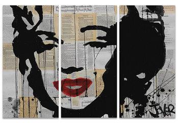 Tableau sur Toile Loui Jover - Marilyn