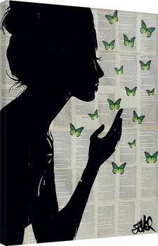 Loui Jover - Simplicity - Green Tableau sur Toile