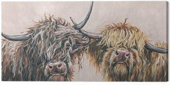 Louise Brown - Nosey Cows Tableau sur Toile