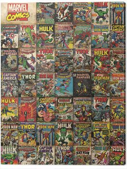 Tableau sur Toile Marvel: Avengers - Covers