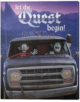 Tableau sur Toile Onward (En avant) - Let The Quest Begin!