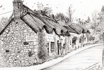 Tableau sur Toile Post office and museum Brighstone I.O.W., 2008,