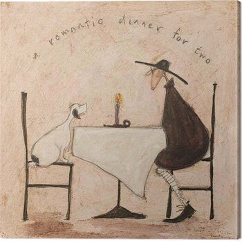 Tableau sur Toile Sam Toft - A Romantic Dinner For Two