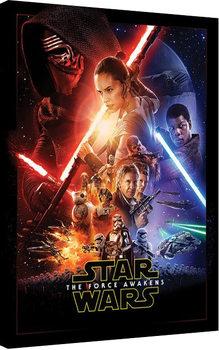 Tableau sur Toile Star Wars, épisode VII : Le Réveil de la Force - Rey Tri