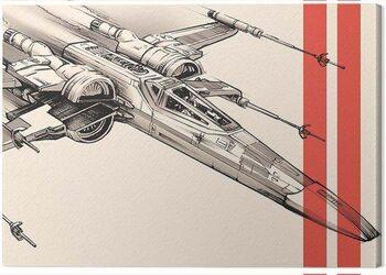 Tableau sur Toile Star Wars Episode VII - X - Wing Pencil Art