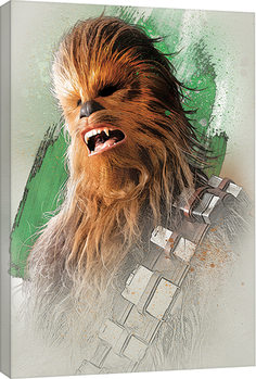 Tableau sur Toile Star Wars, épisode VIII : Les Derniers Jedi - Chewbacca Brushstroke