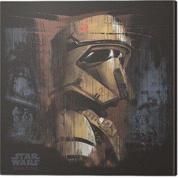Tableau sur Toile Star Wars: Rogue One - Scarif Trooper Black