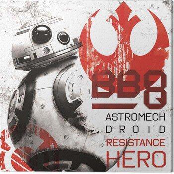 Tableau sur Toile Star Wars The Last Jedi - BB - 8 Resistance Hero