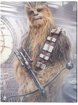 Tableau sur Toile Star Wars The Last Jedi - Chewbacca Bowcaster