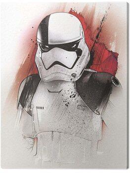 Tableau sur Toile Star Wars The Last Jedi - Executioner Trooper Brushstroke