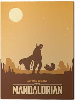 Tableau sur Toile Star Wars: The Mandalorian - Meeting