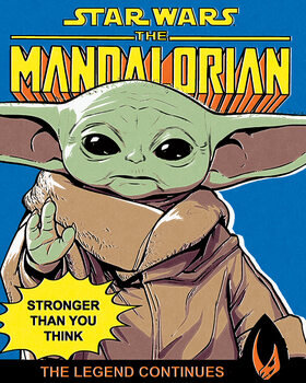 Tableau sur Toile Star Wars: The Mandalorian - Stronger Than You Think