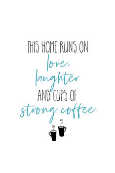 Tableau sur Toile Strong Coffee