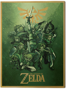 Tableau sur Toile The Legend Of Zelda - Link Fighting