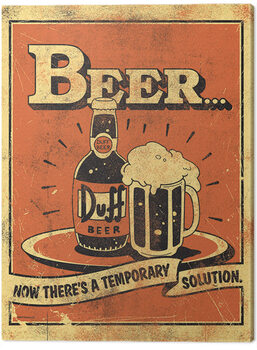 Tableau sur Toile The Simpsons - Beer...