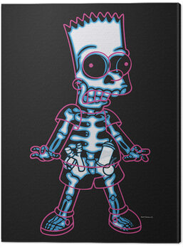 Tableau sur Toile The Simpsons - X-Ray Bart