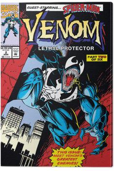 Tableau sur Toile Venom - Lethal Protector Comic Cover