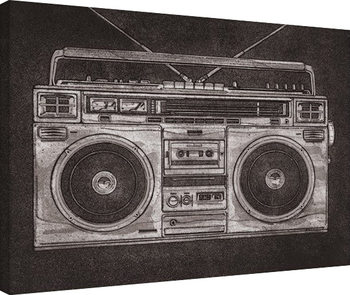 Barry Goodman - Ghetto Blaster Tableau sur Toile