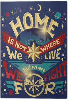 Captain Marvel - Home Tableau sur Toile