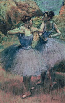 Dancers in Violet Tableau sur Toile