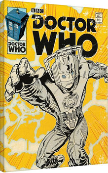 Doctor Who - Cyberman Comic Tableau sur Toile