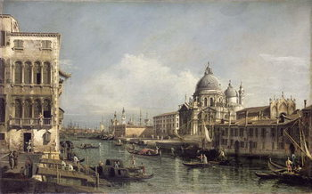 Entrance to the Grand Canal, Venice Tableau sur Toile