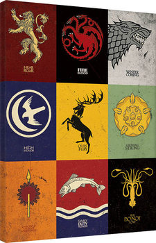 Game of Thrones - Sigils Tableau sur Toile