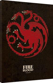 Game of Thrones - Targaryen Tableau sur Toile