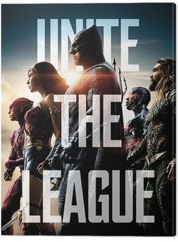 Justice League Movie - Unite The League Tableau sur Toile
