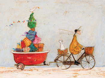 Sam Toft - A Tubful of Good Cheer Tableau sur Toile