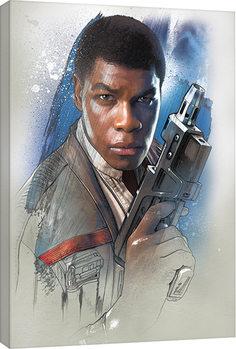 Star Wars, épisode VIII : Les Derniers Jedi - Finn Brushstroke Tableau sur Toile