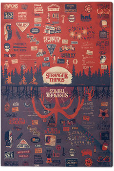 Stranger Things - The Upside Down Tableau sur Toile