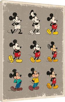 Topolino (Mickey Mouse) - Evolution Tableau sur Toile
