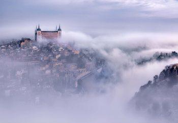 Ταπετσαρία τοιχογραφία  Toledo City Foggy Morning