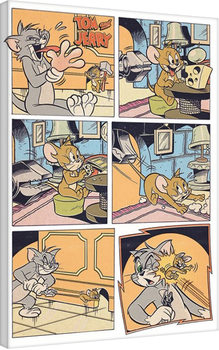Stampa su Tela Tom & Jerry - Panels