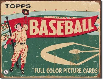 TOPPS - 1954 baseball Metalen Wandplaat