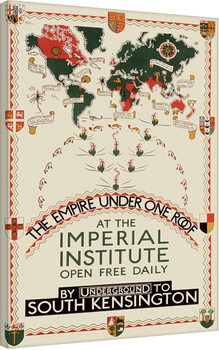Stampa su Tela Transport For London -The Empire Under One Roof, 1927