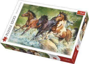 Puzzle Tři divocí koně