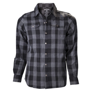 Tričko  Jack Daniel's - Black/Grey checks Shirt