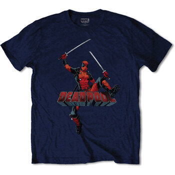 Tričko Marvel - Deadpool Logo Jump