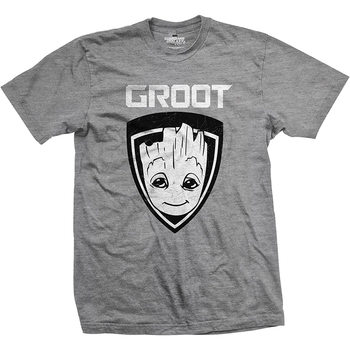 Tričko  Strážci Galaxie - Groot Shield