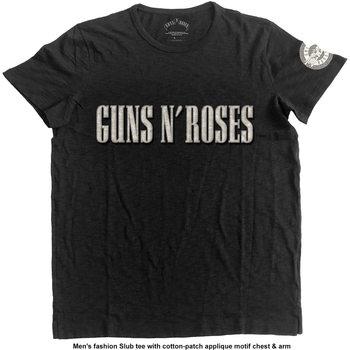 Guns N Roses - LOGO & BULLET CIRCLE Tricou