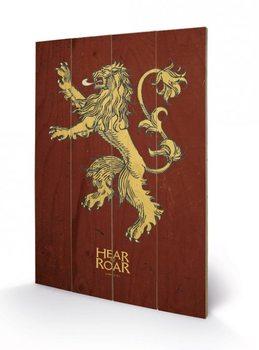 Trónok harca - Game of Thrones - Lannister plakát fatáblán