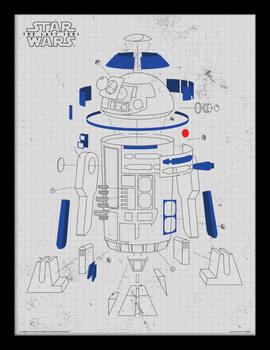 A Csillagok háborúja VIII: Az utolsó Jedik - R2-D2 Exploded View Keretezett Poszter