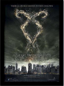 A VÉGZET EREKLYÉI : CSONTVÁROS – rune  üveg keretes plakát