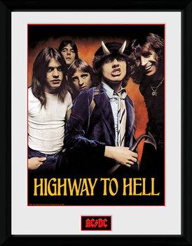 AC/DC - Highway to Hell üveg keretes plakát