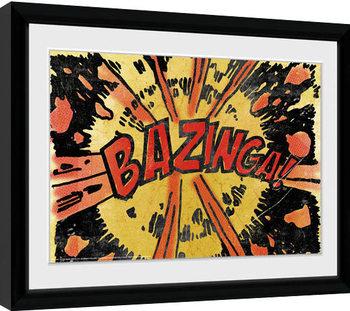 Agymenők - Bazinga Comic Keretezett Poszter